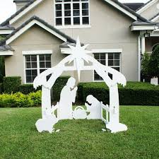 indoor and outdoor nativity sets