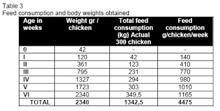 Weight Chart For Show Broilers Broiler Chicken Breeding In Households Engormix
