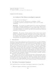an analysis of the kalam cosmological argument pdf an analysis of the kalam cosmological argument pdf available
