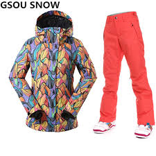 Gsou Snow <b>Professional</b> Ski Suit <b>women ski jacket</b> woman winter ...