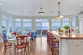 dining area lighting beach style kitchen and dining with pops of bright color decoist amazing 20 bright ideas kitchen lighting