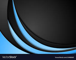 Abstract Contrast Blue Black Wavy Background