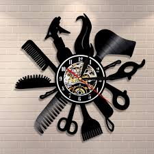 vinyl record wall clock art gifts birthday gifts 12 inch black without battery