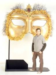 Giant Masquerade Mask Decoration Event Prop Hire Giant Venetian Eye Mask Masquerade party 17