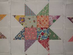 12 Aunt Grace 1930s Reproduction Sawtooth Scrappy Star Quilt ... & 12 Aunt Grace 1930s Reproduction Sawtooth Scrappy Star Quilt Blocks for Tops Adamdwight.com