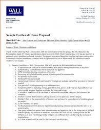 Sample Construction Bid Proposal Letter Goal Blockety Co