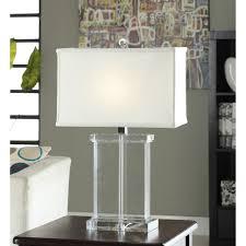 crystal rectangular white shade table lamp overstock shopping pertaining to tahari home lamps decor 16 tahari home lamps c18