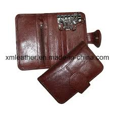 china slim compact leather keychain pouch key holder wallet gifts china key wallet leather key wallet