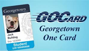 One Card University Georgetown Gocard First XR87vW0pp
