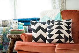 quilted geometric throw pillows  shannon brinkley studio