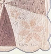 Corner detail of the original Jane Stickle Quilt. She signed it ... & Corner detail of the original Jane Stickle Quilt. She signed it