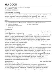 Us Army Operations Nco Resume Sample Cana Virginia Resumehelp