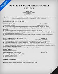 Quality Engineer Resume Unique Quality Engineer Resume Sample Doc Resume Template Resume Examples