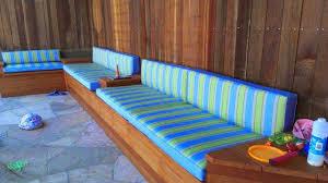 custom outdoor cushions. Striped Bench Cushions Custom Outdoor W