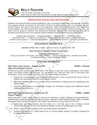 Gallery Of Sample Teacher Resume Examples Of Resumes For Teachers