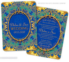 hindu indian wedding invitations eastern fusion designs Indian Wedding Invitations Green Street announce your wedding with boho chic charm this peacock feathers wedding invitation is the perfect indian wedding cards green street