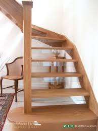 open tread stairs. Contemporary Stairs Open Tread Oak Staircase With Glass Downstands Intended Tread Stairs