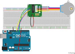 to power your stepper motors from an external supply with 5v 500ma at least as people draw too much to be powered directly from your arduino board
