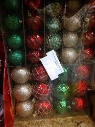 Holiday Time GoldRedGreen Shatterproof Christmas Ornament Set Christmas Ornament Sets
