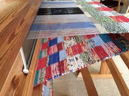 double binding rag rug on loom
