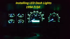 1997 F150 Dash Light Bulbs How To Install Led Dash Lights New Glow To Your Dash