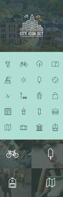 city icon set by eugene maksymchuk icon design love the line drawing basic icons flat icons 1000