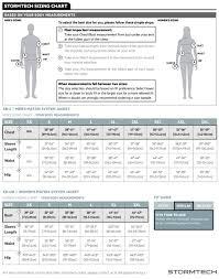Xb Size Chart Mens Matrix System Jacket Xb 4