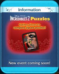 Tsum Exp Score Chart International Events Incredibles 2 Puzzles Disney Tsum