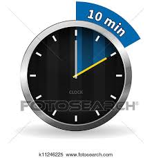 Ten Minutes Countdown Clipart Of Clock 10 Minutes To Go K11246225 Search Clip Art