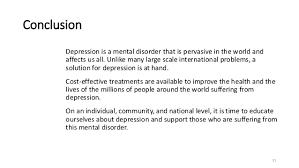 depression conclusion depression