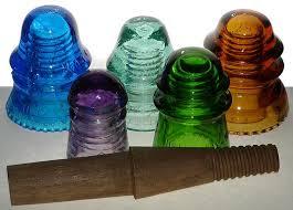 recycling glass insulators into pendant light