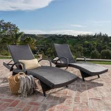 patio chaise lounge chairs. Peyton Adjustable Wicker Chaise Lounge (Set Of 2) Patio Chairs S