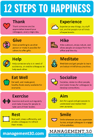 how to increase worker happiness management  12 steps to happiness v1 00 poster color
