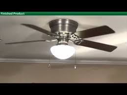eye catching hunter low profile ceiling fan with light in flush mount fans lighting the home depot