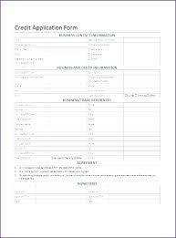 Rental Credit Application Generic Credit Application Form Rental Pdf Free Business