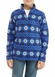 Crown Ivy Boys 8 10 12 14 16 Snowflake Print Polar