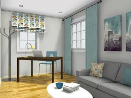 small living room layout with corner desk and storage coffee table
