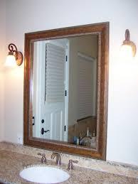 Bathroom: Bathroom Mirror Frames With Elegant White Gilded Style ...