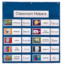 Preschool Class Job Chart Pocket Charts Your Choice Of 2