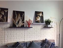6 of 12 3d pe foam diy brick stone embossed wall paper wall stickers wall decor 30 60cm