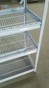 wire mesh shelves 5 multi level white light duty shelving slotted angle rack in wire mesh wire mesh