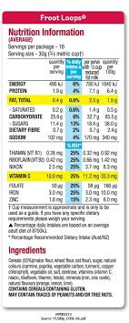 kellogg s froot loops kellogg s intended for fruit loops nutrition label