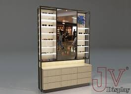 optical display cabinets wall wooden glass