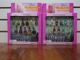 Gloria Barbie Doll Furniture A B Wine Cabinet Play Set
