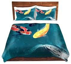 duvet cover only duvet cover fish painting modern bedding twin duvet only duvet cover and sham meaning