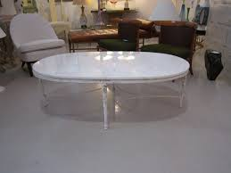 shabby chic oval coffee table with marble top at stdibs