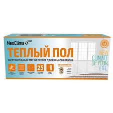 Купить Электрический <b>теплый пол NeoClima N-TM</b> 150/1.0 по ...
