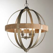 wooden chandelier lighting. metal and wood globe chandelier 6light wooden lighting s