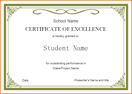 Certificate Of Excellence Template Word 100 certificate of excellence template Job Resumes Word 2