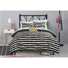 latitude gold glitter stripe and polka dot bed in a bag bedding set white sets 8c54110a d21f 4720 8fdc 60a593c30